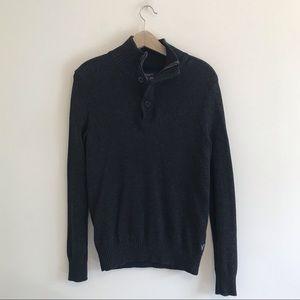 Amercian Eagle | Gray Quarter Button Sweater